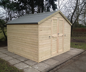 Domestic sheds, play equipment, play marking UK.
