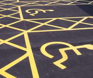 Towns and parishes ground work, car park markings UK.