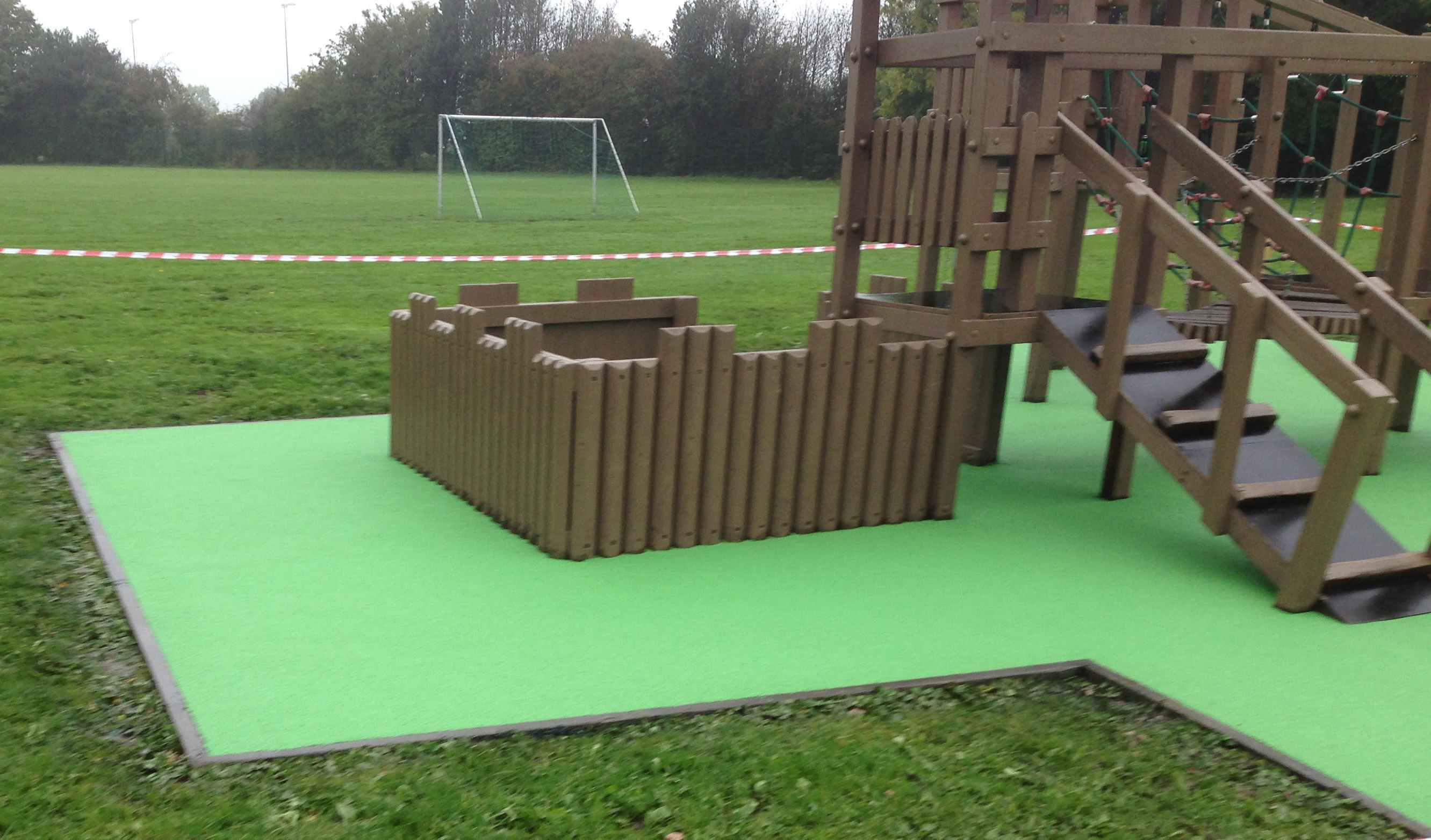 colourful playground surface design county durham