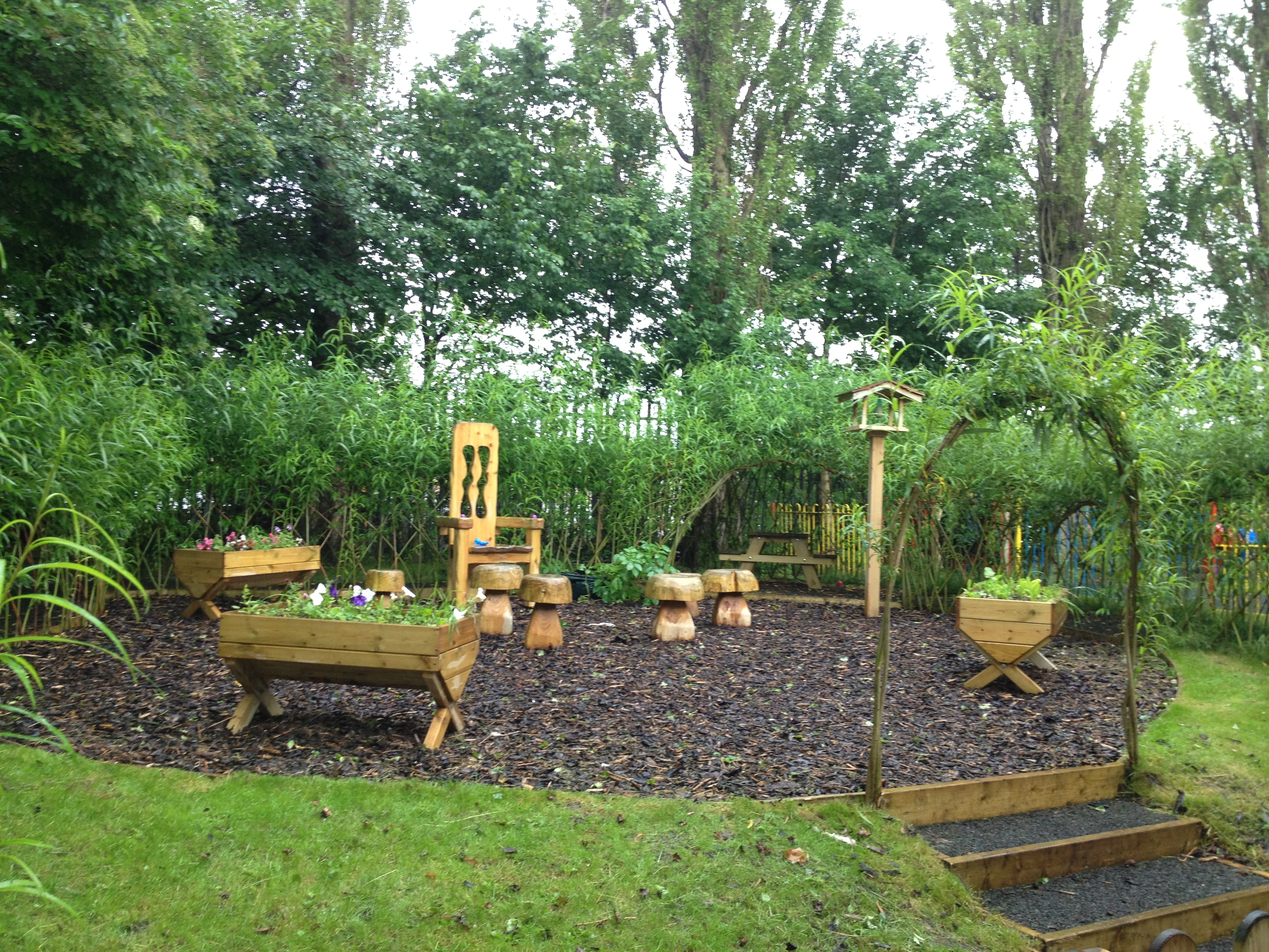 Natural sensory play area installation lancashire for Outdoor garden equipment