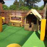 Safehands Day Nursery, Harrogate - colourful safety surfacing and playground equipment.