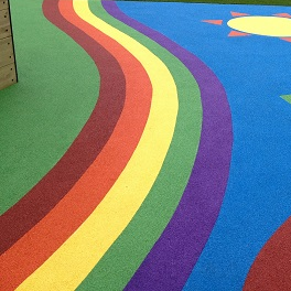Playground markings play area design UK.