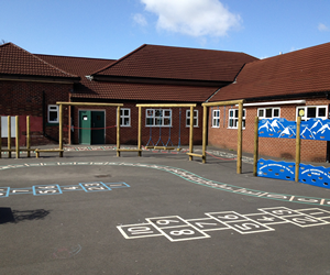 Playgrounds and play areas for schools and colleges.