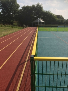 Running track for Bacup School.