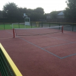 Tennis court installation Lancashire, North West, UK.