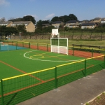 Basketball courts, outdoor sports equipment UK.