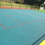 Sports activity courts, Bacup, North West UK.