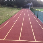Sprint track, games areas, sports markings North West UK.
