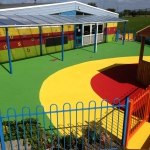 Colourful playground design