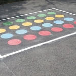 Colourful thermoplastic markings
