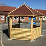 Handmade timber shelter