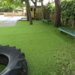 Finished artificial grass.