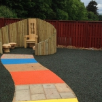 Playground Classrooms and education, Scotland, UK.