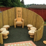 Outdoor class room, nursery education, Scotland, UK.
