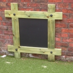Timber chalk board