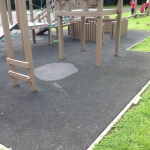Timber play frame