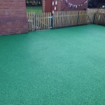 New green safety surfacing.