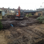 Preparation for the play area regeneration.