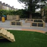 Artificial grass and timber products, Burnley, Lancashire.
