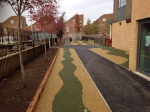 Pathway regeneration, safety path Enfield, London