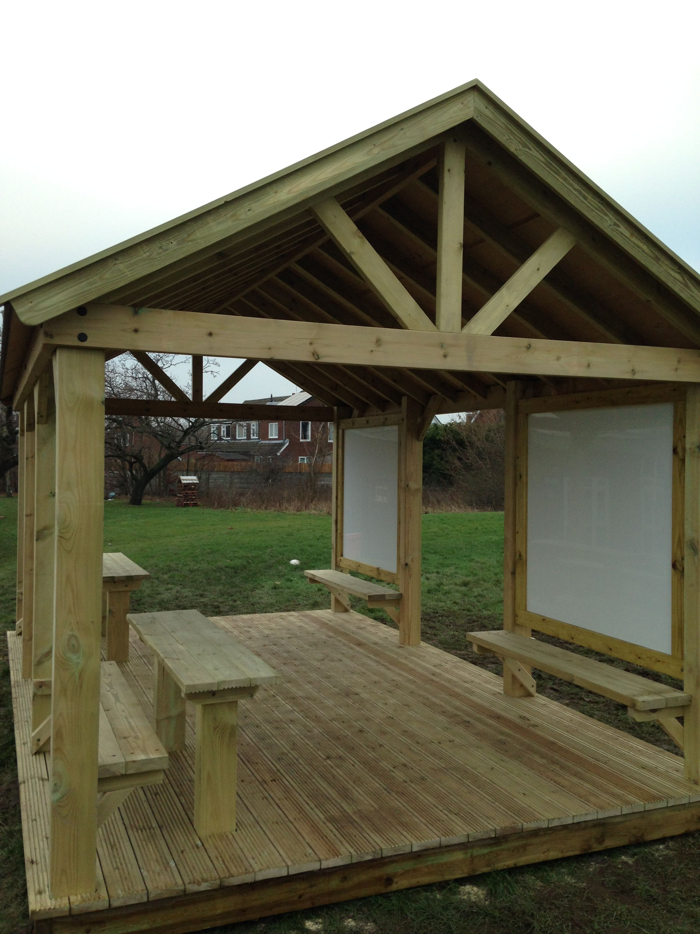 timber outdoor classroom