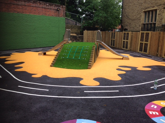 Playground safety slide for Manchester nurseries.